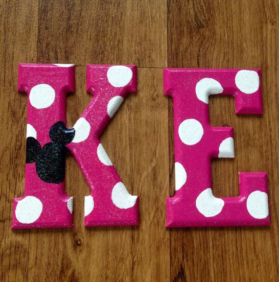 Minnie Mouse Wooden Letters Disney Wall Decor Wooden Letters Disney Wall Decor Disney Themed Rooms