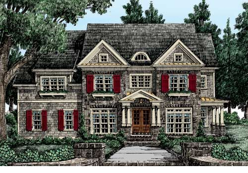 Frankbetz Com Lanier Pointe Colonial House Plans Traditional House Plan New England Style Homes
