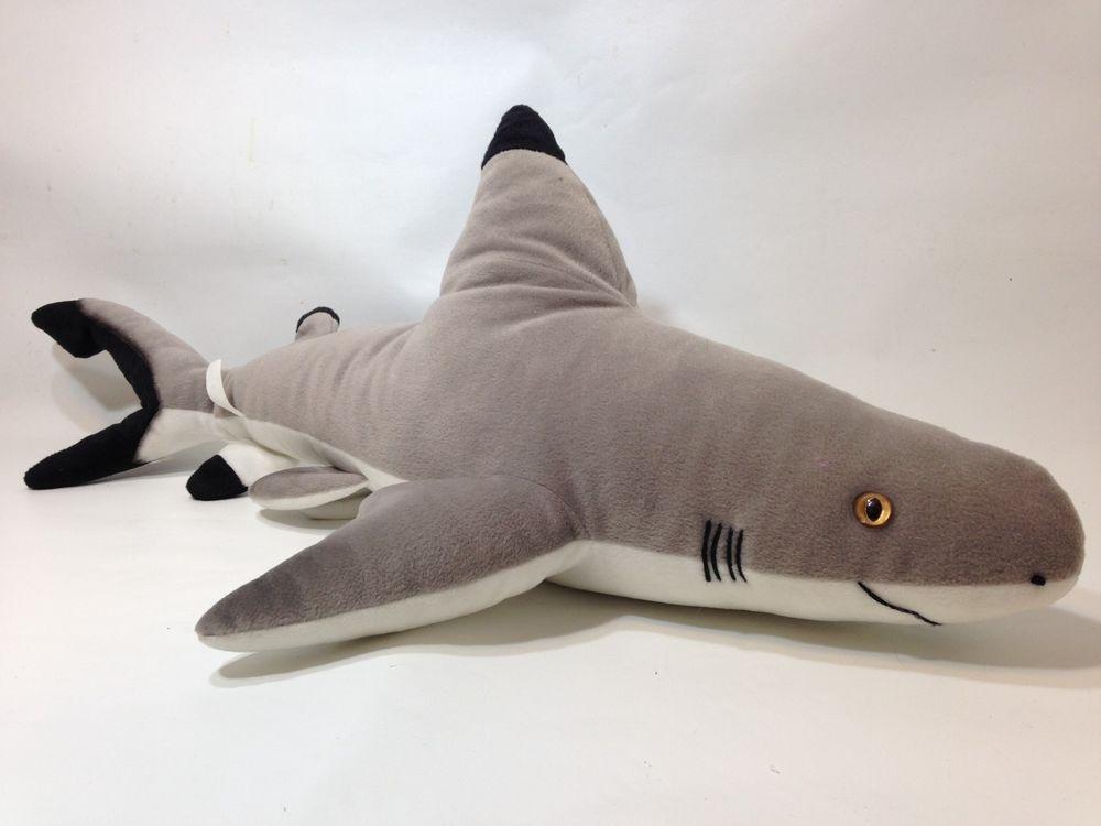 Large 28 Shark Black Tip Plush Ocean Stuffed Animal Big Fish