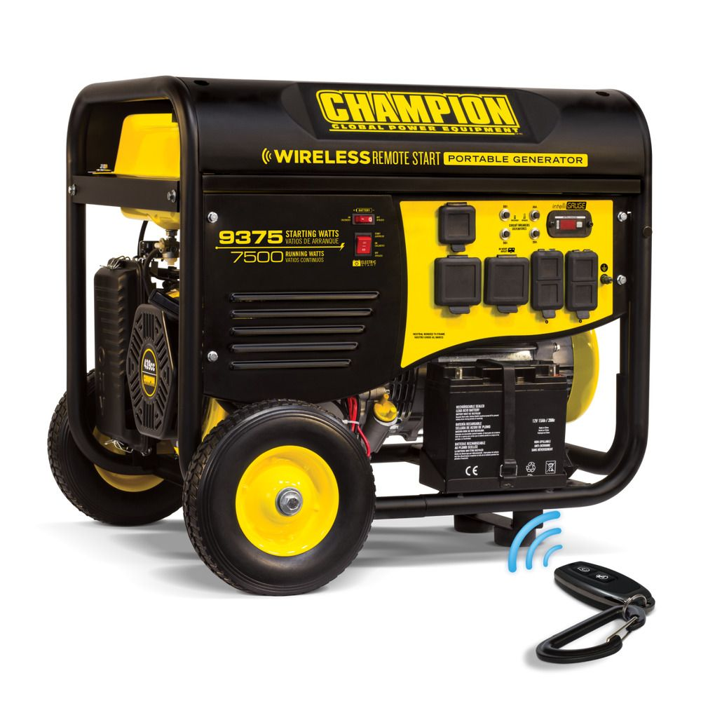 Champion 7500 Watt RV Portable Generator with Wireless