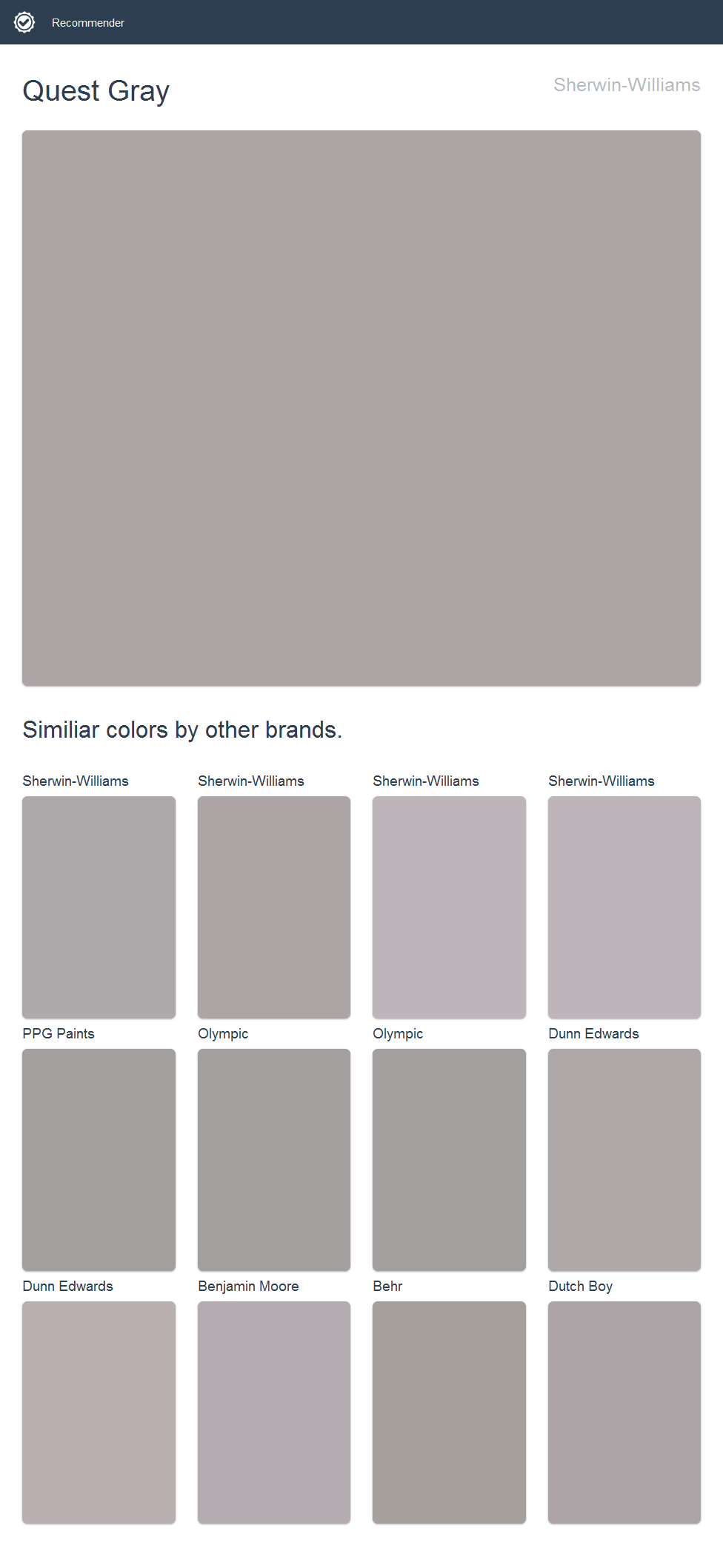Quest Gray Sherwin Williams 2017 Sherwin Williams Paint