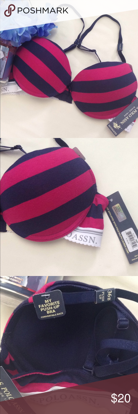 478196c5ec NWT push up convertible U.S polo assn. bra Brand new with tags ...