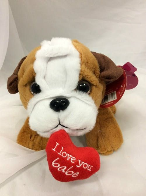 This Sweet Cuddly Bulldog Is A Great Way To Send Your Valentine