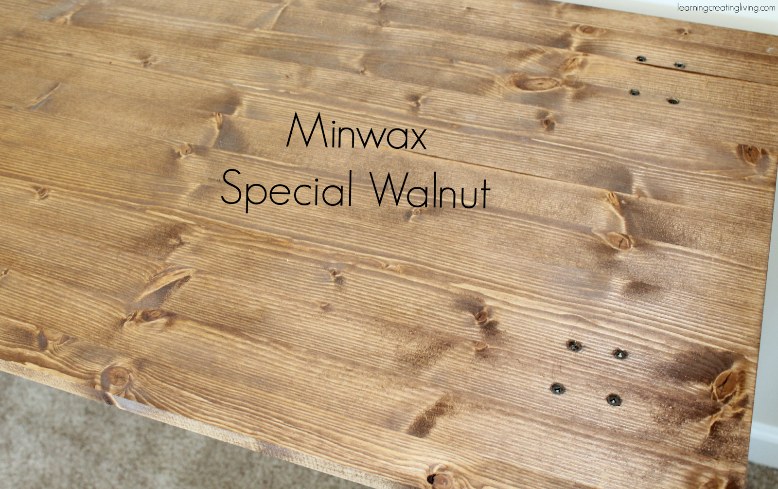 For the top part I used Minwax Special Walnut & I love the way it ...