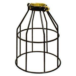 Charming For The DIY Restoration Hardware Pendant Lights   $6   Metal Lamp Guard    Black