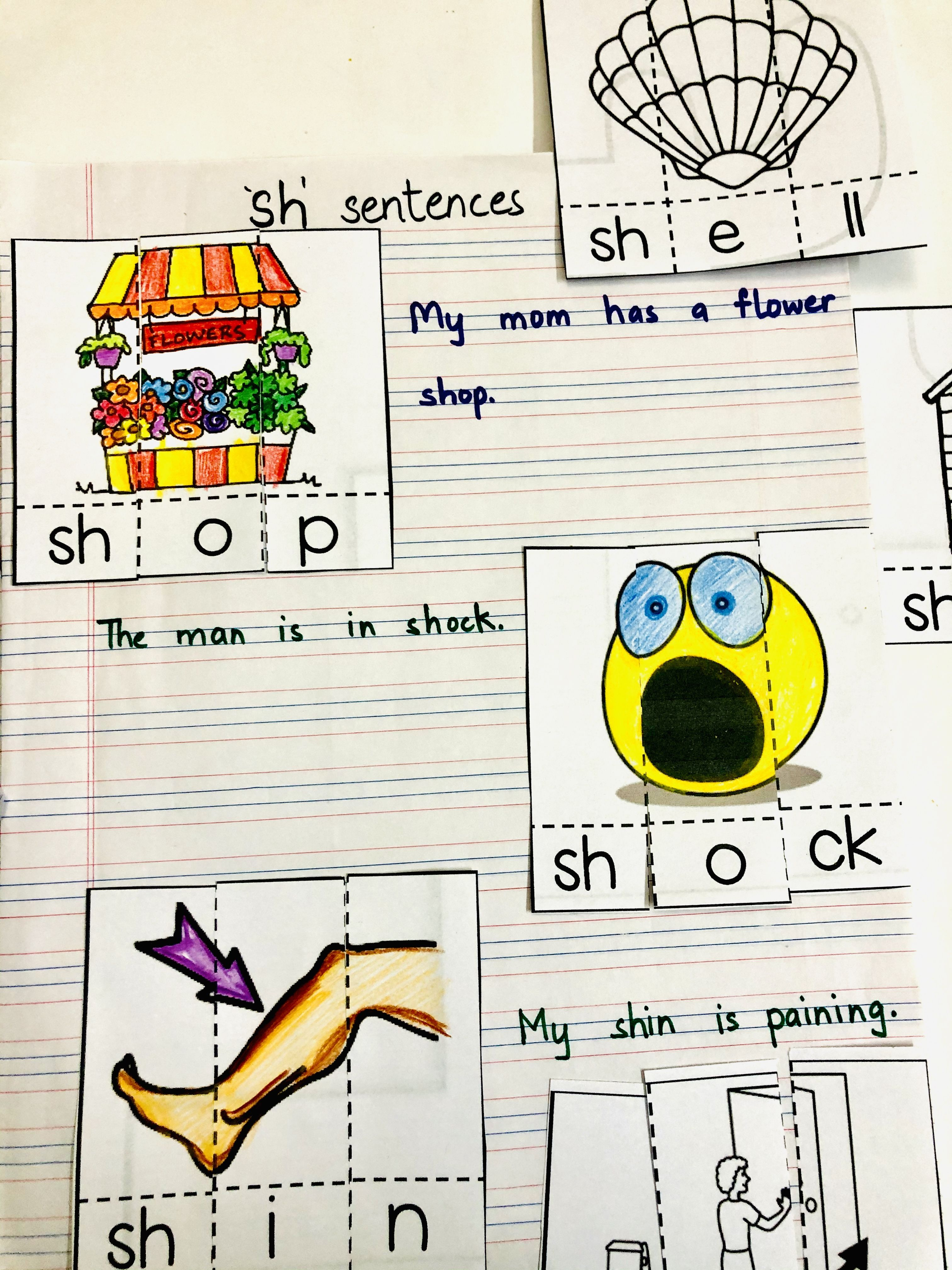 Sh Sound Words Digraph Worksheets Free Englishsafari