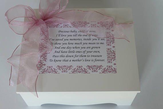 Sample Sale Closeout Baby Keepsake Box Baby Memory Box Precious Baby