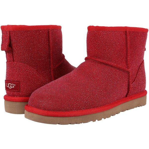 3ed44d2b19b UGG Classic Mini Serein (Lipstick Red) Women's Boots ($145) ❤ liked ...