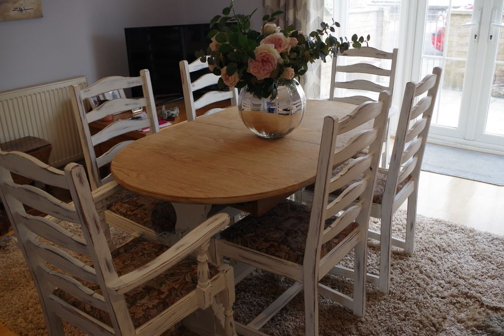 Newly Refurbished Annie Sloan Vintage Solid Oak Refectory Table