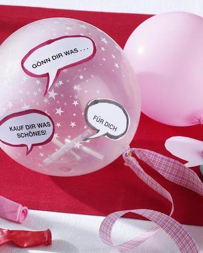 Geldgeschenke kreativ verpacken: Luftballons