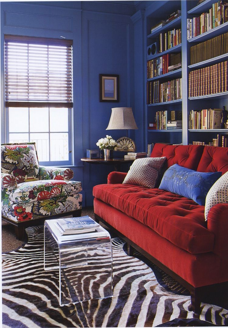 Interio Sofa Samt Katie Ridder Study My Place Red Sofa Blue Rooms Living Room Red