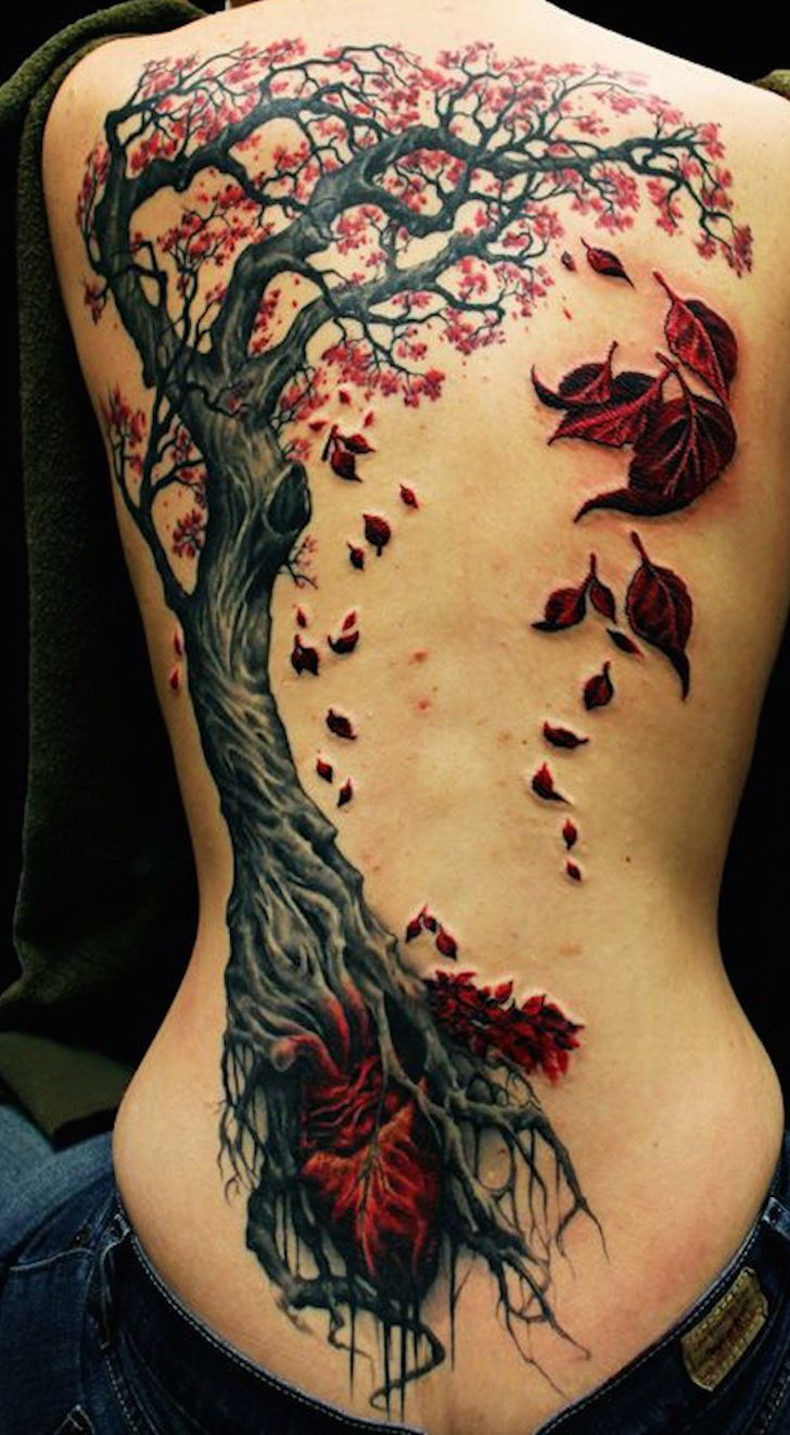 Black ink tattoos for girls - 12 Gorgeous Tattoos For Autumn Tattoo Com