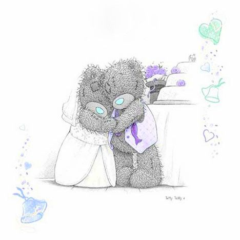 Литва, открытки с мишками свадьба