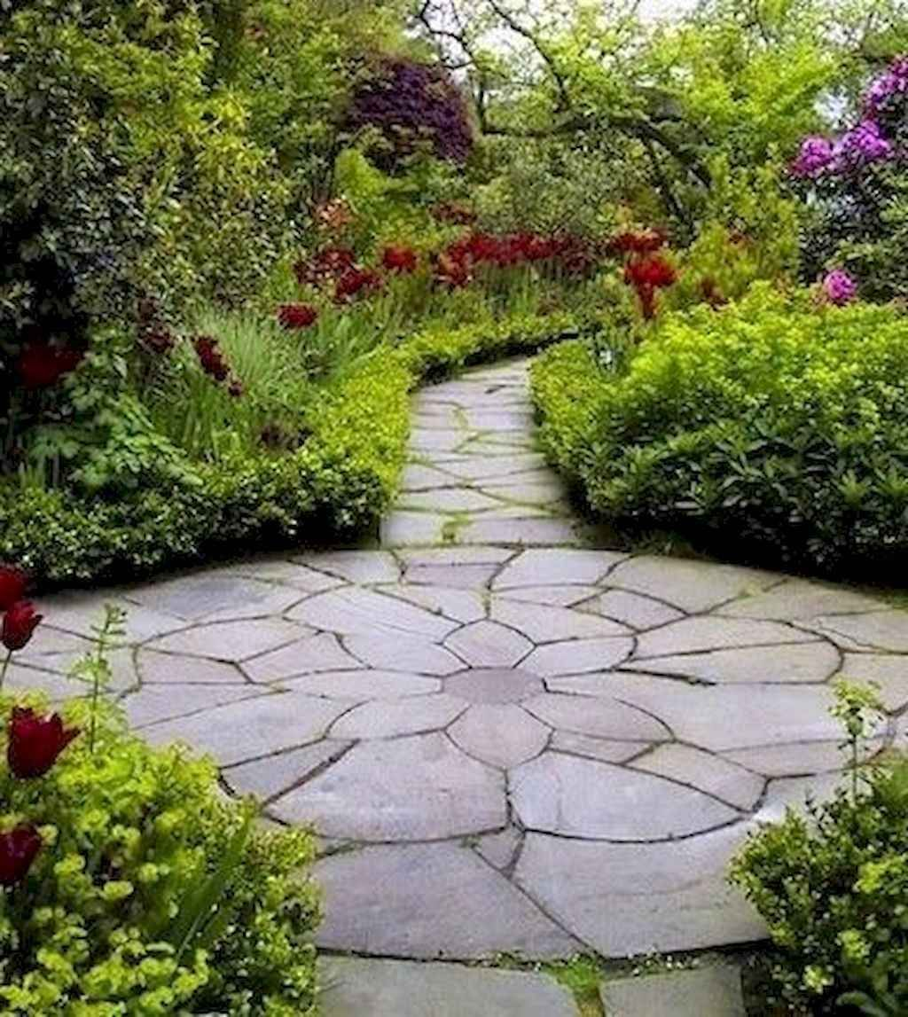 01 Stunning Front Yard Path & Walkway Landscaping Ideas ... on Stepping Stone Patio Ideas id=42176