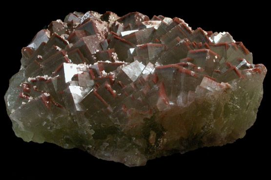 Fluorite with Hematite inclusions from Grube Cacilia, Lissenthann, Nabburg, Oberpfalz, Bavaria, Germany