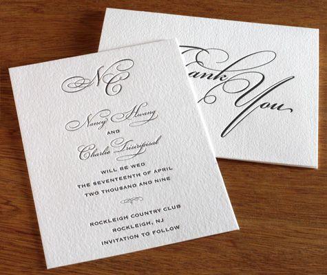 Formal Black Tie Wedding Formal Wedding Invitation Designs