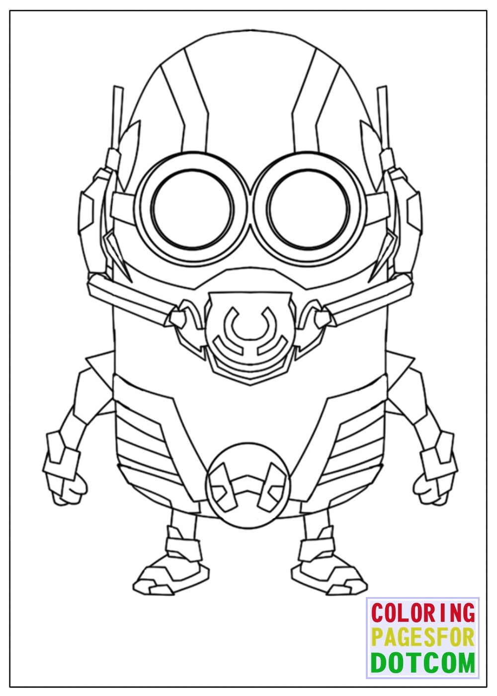 Minion Ant Man Mode Coloring Pages Minion Coloring Pages Minions Coloring Pages Avengers Coloring