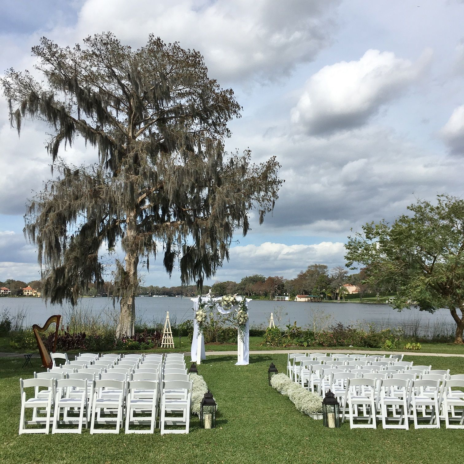 Beach Wedding Ceremony Playlist: Capen House Wedding Venue In Winter Park. A Lakefront