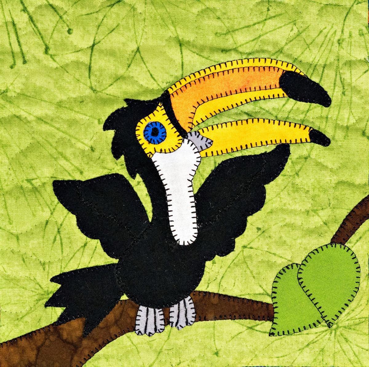 Toucan Applique Quilt Block Ms P Designs USA Pinterest