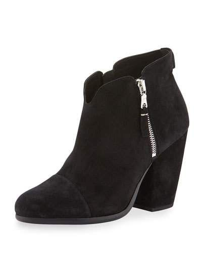 Black · RAG & BONE Margot Suede Ankle Boot ...
