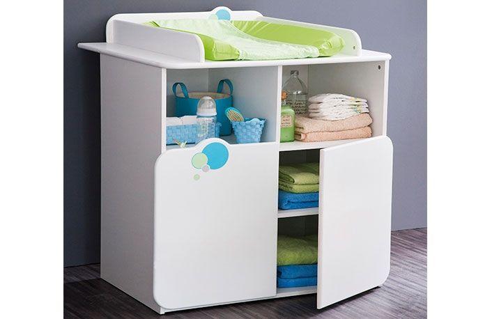 Cambiador moderno bebé con dos puertas y dibujo globos | Hazlo tú ...