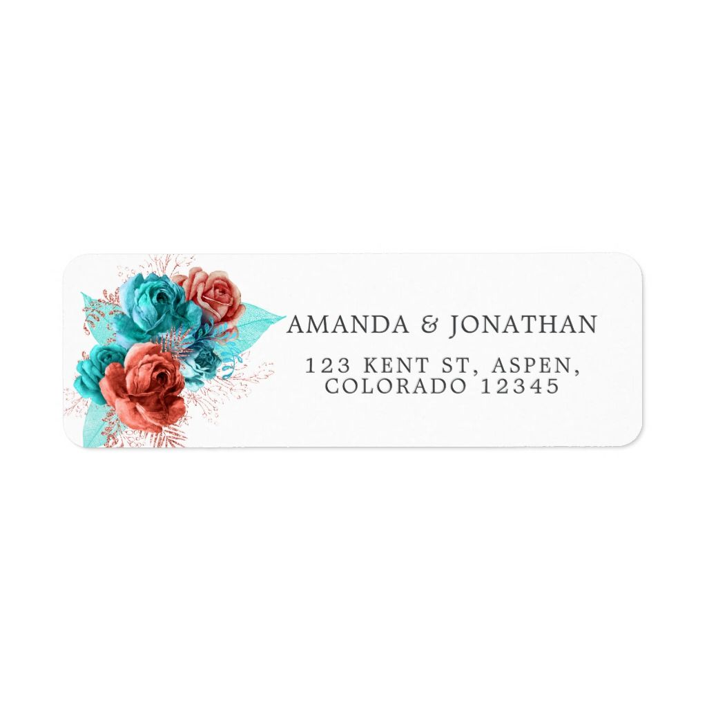 Turquoise and Coral Tropical Wedding 5 sheets #turquoisecoralweddings