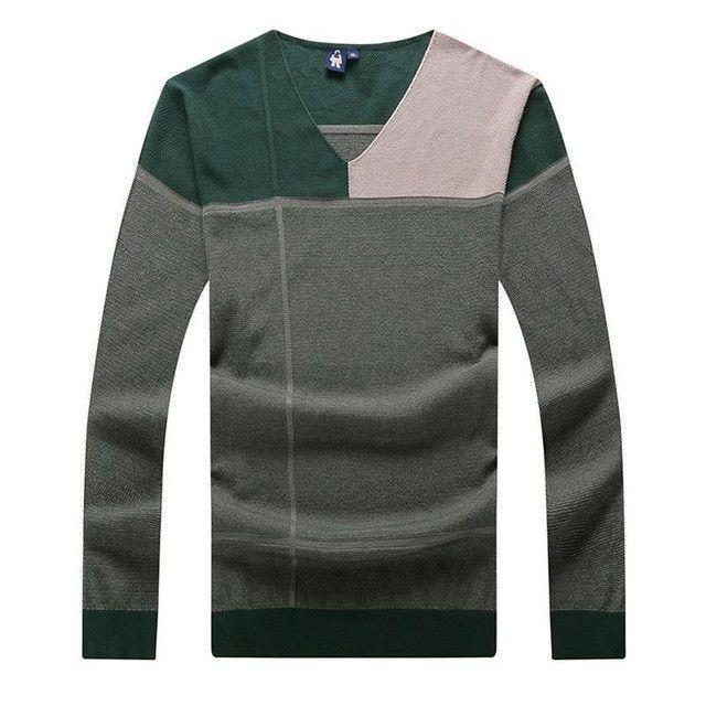 a5b948332 Ali 9XL 8XL 7XL 6XL Autumn Brand Casual Sweater O-Neck Striped Slim ...