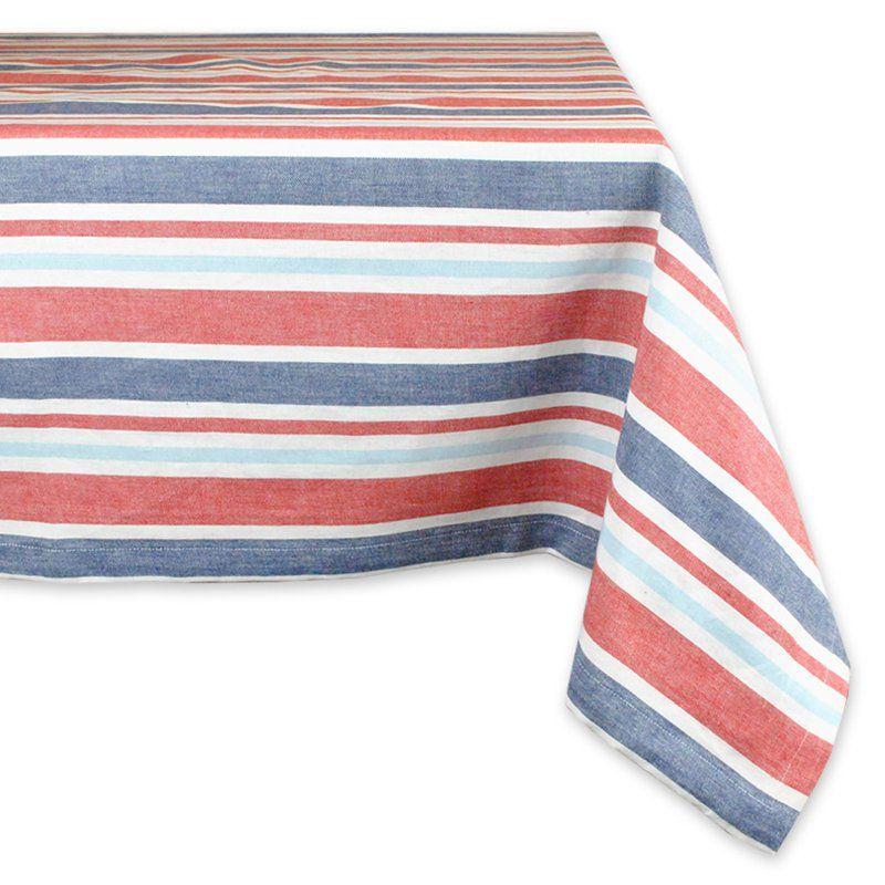 Design Imports Patriotic Stripe Tablecloth - CAMZ33344