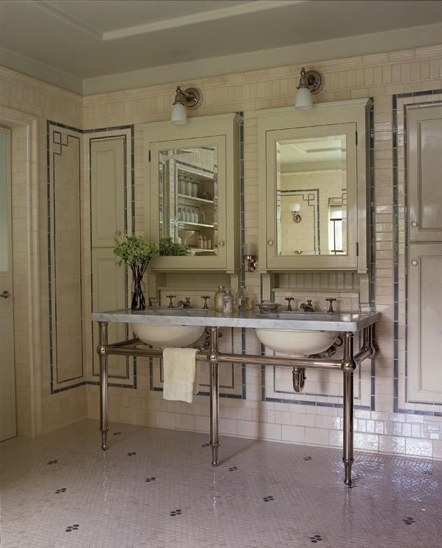 A Look At The Wild Designs Of Roman And Williams Roman And Williams Vintage Bathroom Retro Tiles