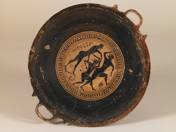 REPRO Ancient Greek Pottery Lekanis Nude Mythological