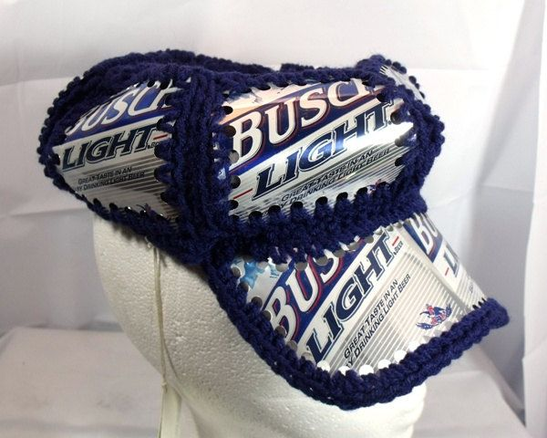 93ca466ca35 Busch Light Beer Can Recycle Crocheted Hat by SmilinMoonWorkshop ...