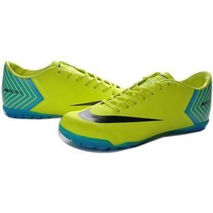 http://www.asneakers4u.com Nike Mercurial Vapor X TF Cleats   Yellow Green Blue Black New Soccer Shoes May