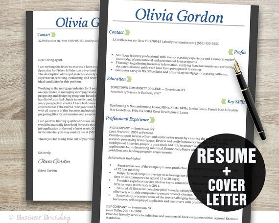 Resume Template Design Instant Download By Businessbranding  Job