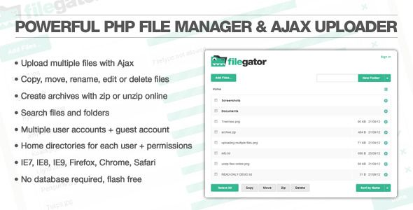 Php Scripts Filegator Codecanyon Project Management Tools Codecanyon Script
