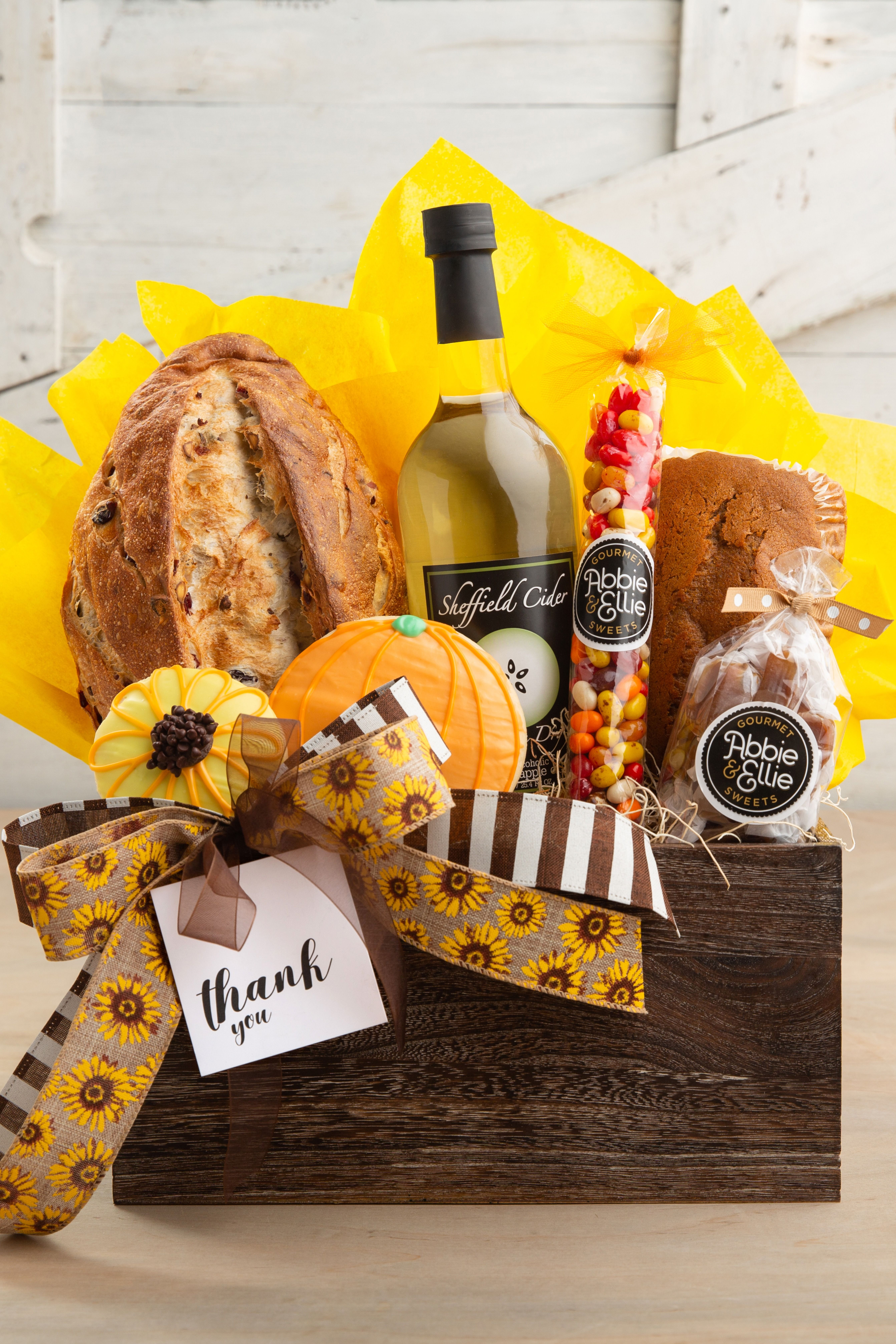 Autumn thank you gift basket in 2020 pumpkin sugar
