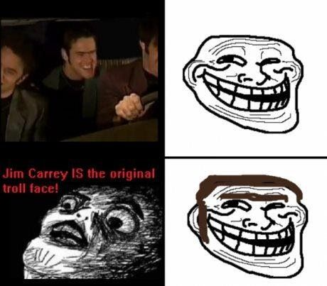 Jim Carey is the original troll face. In living color.