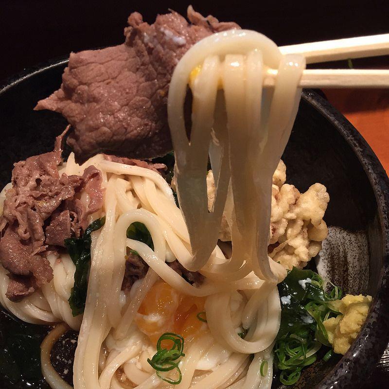 肉温玉まいたけぶっかけうどん(冷) ¥1000-