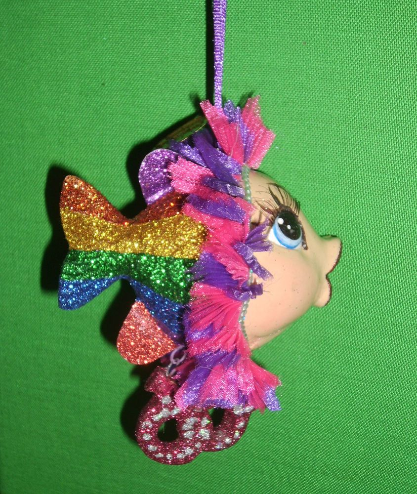 Kissing fish ornament - Pride Lesbian Rainbow Kissing Fish Ornament By Katherines Collection Retired