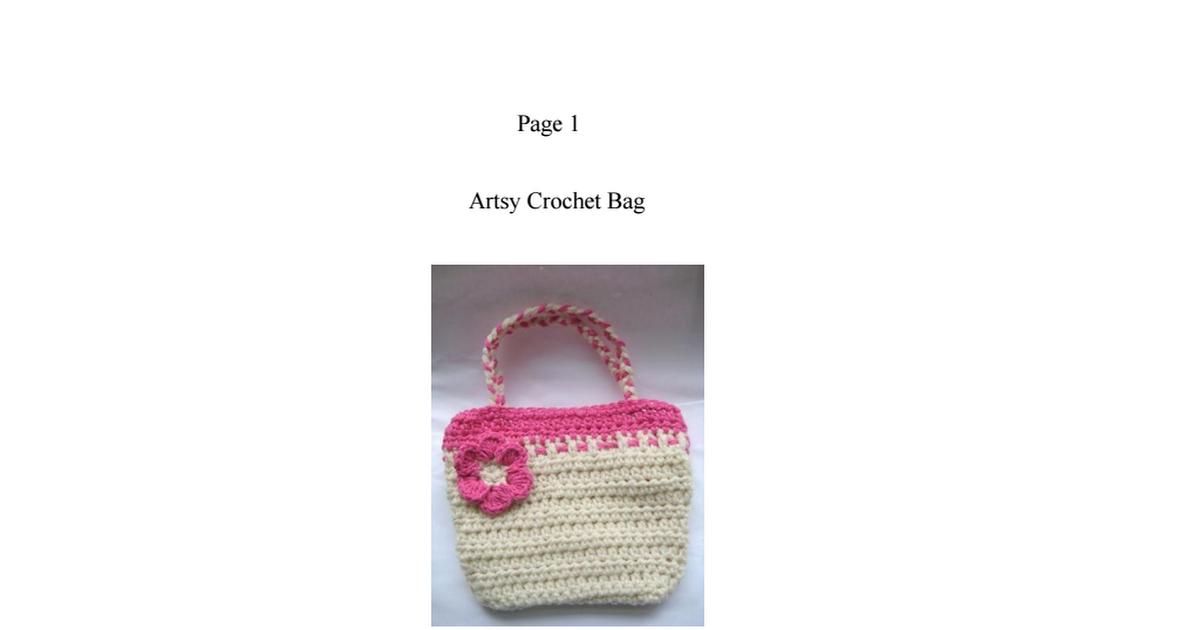 Artsy Crochet Bag.pdf | Crochet patterns | Pinterest