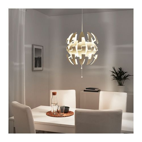 Ikea Ps 2014 Pendant Lamp Like The Death Star White Silver: IKEA PS 2014 Pendant Lamp, White
