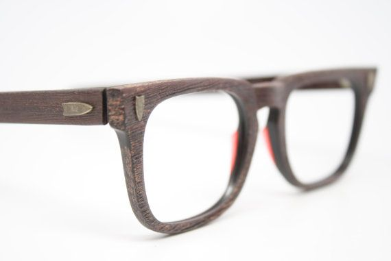 I know these are for men and probably too big for my face but I LOVE THEM NONE-THE-LESS!  NOS beautiful Redwood vintage men's by VintageOpticalShop on Etsy, $ 135.00