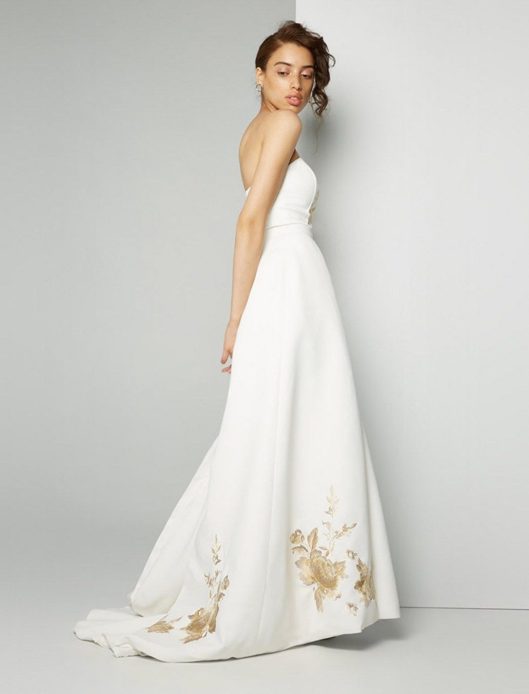 30 Beautiful White Wedding Dress With Black Embroidery | White ...