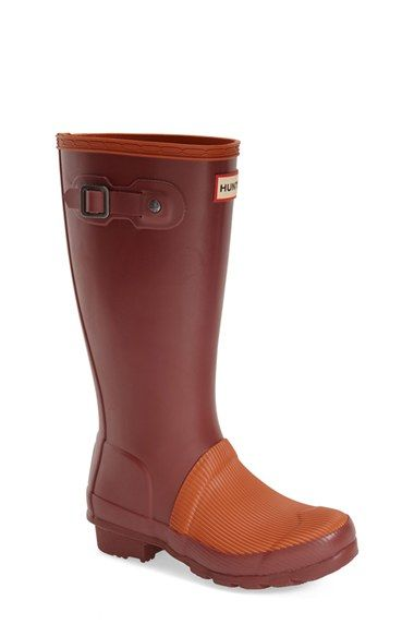 e8c4da60f7700 Hunter 'Original' Ribbed Toe Rain Boot (Little Kid & Big Kid) available at  #Nordstrom