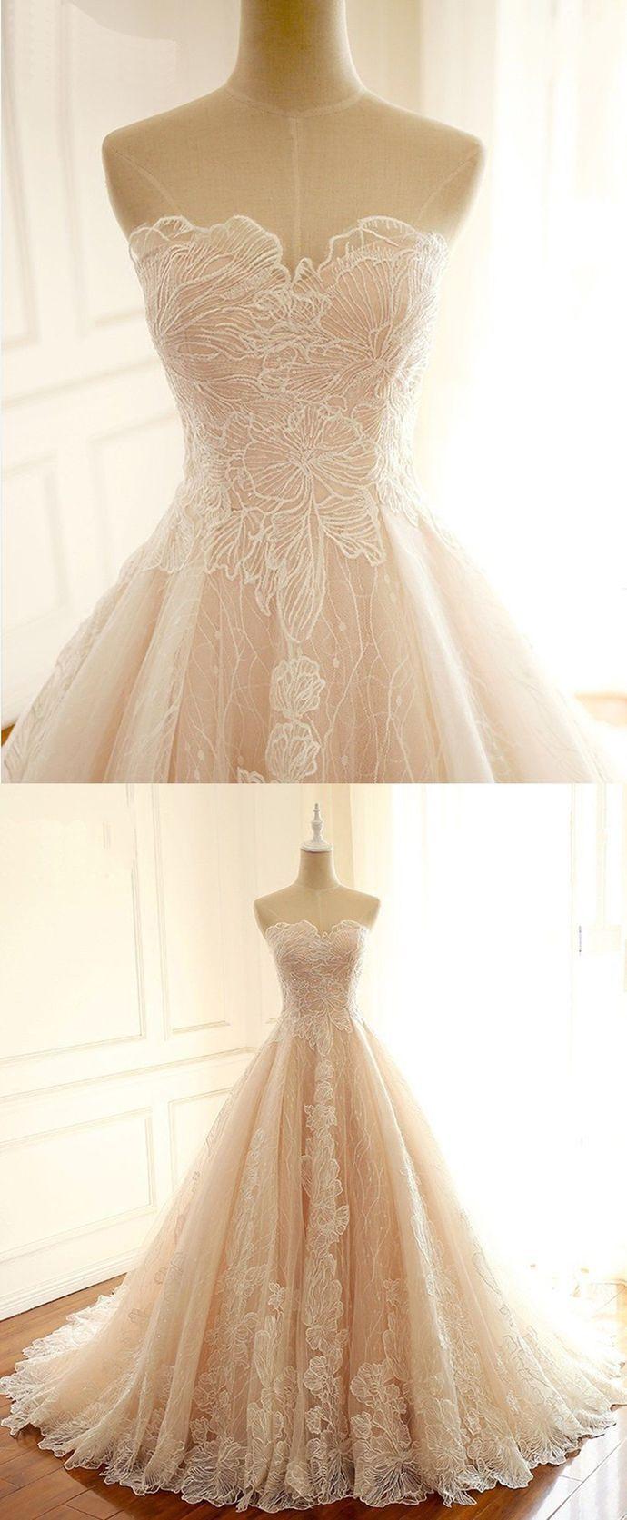 Photo of SSR0121,light champagne sleeveless strapless v-neck full length women dress applique tulle lace long school event dress sweet 16 dress