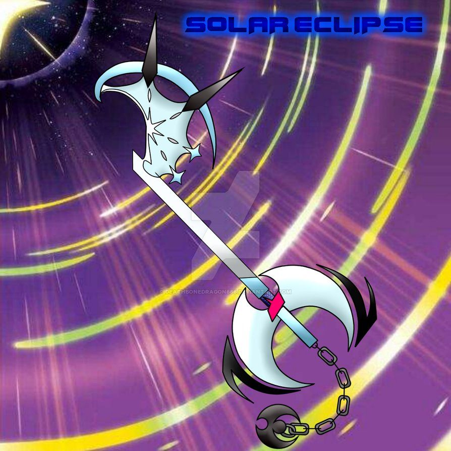 The Ultra Lunala Keyblade SOLAR ECLIPSE Solgaleo's keyblade