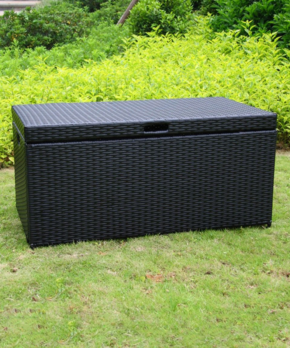 Loving This Black Wicker Patio Storage Box On Zulily