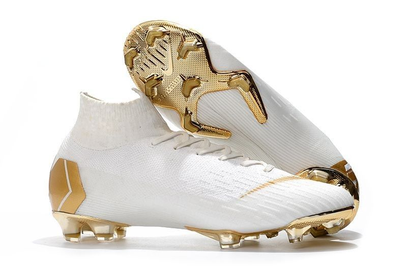 sneakers for cheap 6cacf 91783 Cool Nike Mercurial Superfly VI 360 Elite FG Sock Soccer Cleats - White/Gold