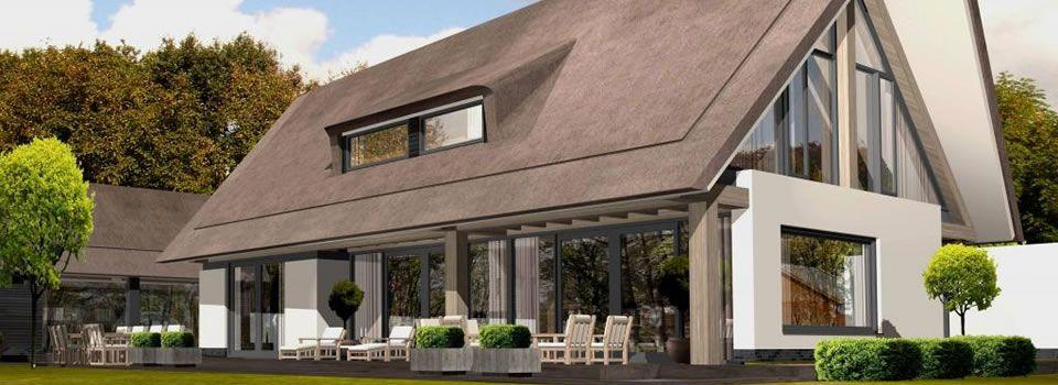 Woonhuis met moderne rietkap google zoeken woning pinterest modern zoeken en google - Exterieur modern huis ...