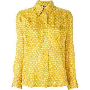Hermès Vintage cap printed blouse