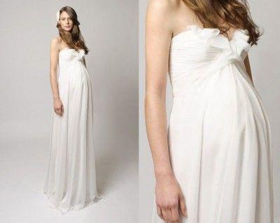 vestidos para novia matrimonio civil para embarazada | embarazadas